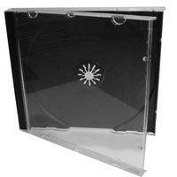Box CD Tradicional Simples Tray Preto (Novo Disc) - 01 Unidade