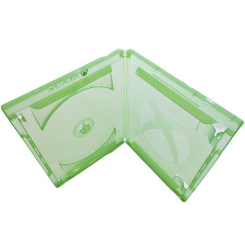 Box DVD Simples Tradicional Videolar Verde c/ selo X-Box One - 100 Unidades