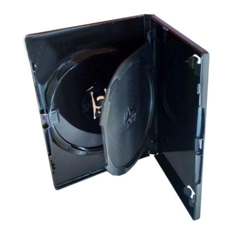 Box DVD Tradicional Duplo Preto Videolar - 100 Unidades