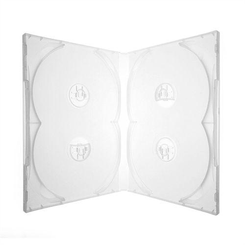 Box DVD Quádruplo Tradicional Sony Crystal Transparente - 100 Unidades - Caixa Fechada