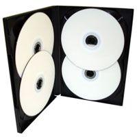 Box DVD Quádruplo Tradicional Videolar Preto - 100 Unidades - Caixa Fechada