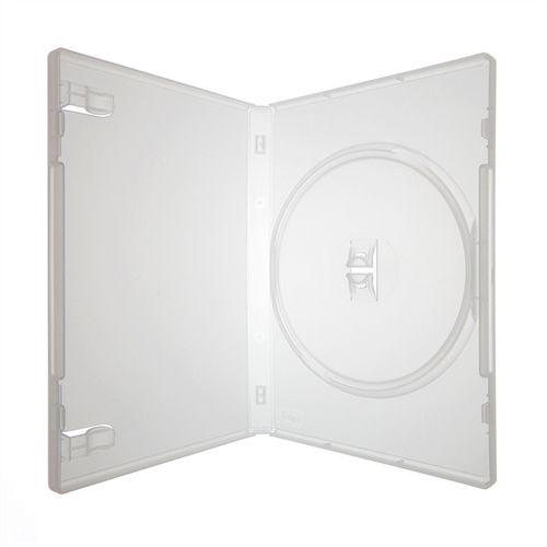 Box DVD Simples Tradicional Amaray Crystal (Sony) - 100 Unidades (Caixa Fechada)