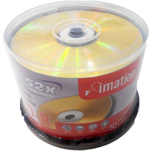 CDR Imation 52X 700MB Gold Thermal P/Impressão Termal - 50 Unidades (Pino Lacrado)