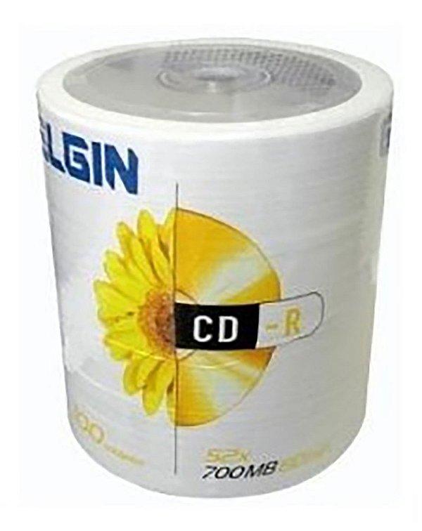 CDR Elgin 52X 700MB C/Logo - 100 Unidades (Shrink Lacrado)