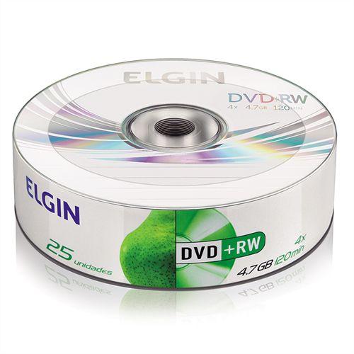 DVD+RW Elgin 4X 4.7GB C/Logo - 25 Unidades (Shrink Lacrado)
