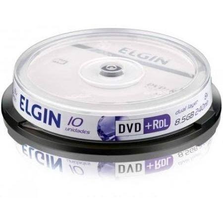 DVD+R Dual Layer Elgin (ID: Umedisc) 8X 8.5GB Dual Layer C/Logo - 10 Unidades (Shrink Lacrado)