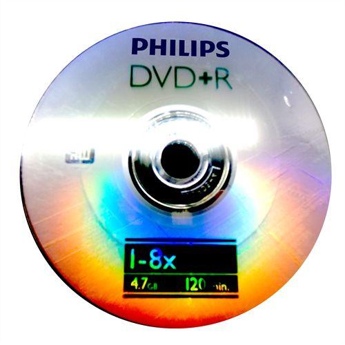 DVD+R Philips 8X 4.7GB C/Logo - 100 Unidades (Shrink Lacrado)