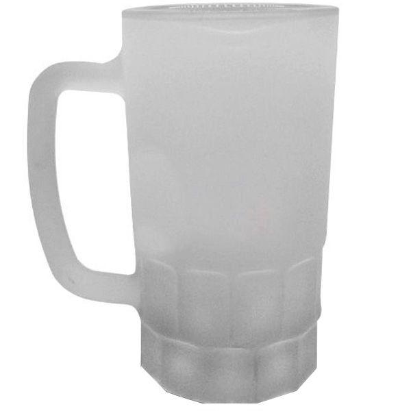 Caneca Sublimática de Vidro Jateado Tipo Chopp Beer Mug 500ML (ShopVirtua3000®) (202) - 24 Unidades (Caixa Fechada)