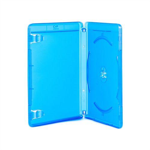 Box Blu-Ray Tradicional Simples Azul Com Selo Blu Ray (Videolar) - 100 Unidades