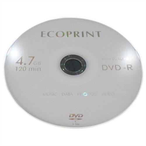 DVD-R EcoPrint 16X 4.7GB C/Logo - 01 Unidade