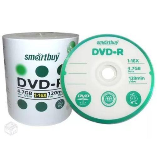 DVD-R SmartBuy 8X 4.7GB C/Logo - 100 Unidades (Shrink Lacrado)