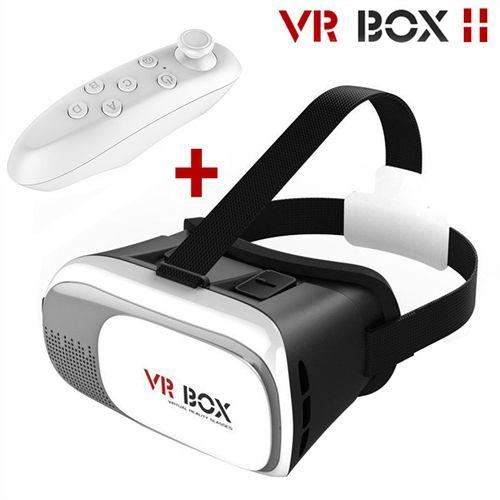 Óculos de Realidade Virtual 3D para Smartphone VR BOX 2.0 C/Controle Bluetooth