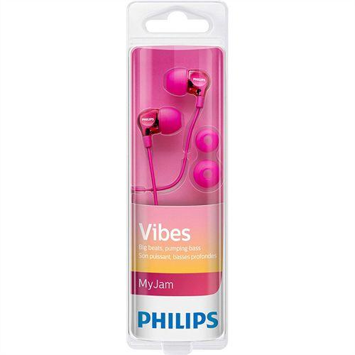Fone de Ouvido Philips Intra-Auricular SHE3700PK/00 Rosa