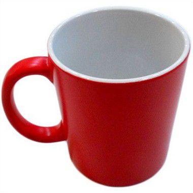 Caneca Cerâmica Mágica Vermelha Com Brilho  325ml Resinada P/ Sublimação (450) - 01 Unidade