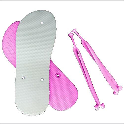 Chinelo Borracha Sublimático Modelo Tira Slim Rosa Bebê Adulto 37/38 Embalado a Vácuo não Suja ou Amarela (JD8010) - 01 Unidade