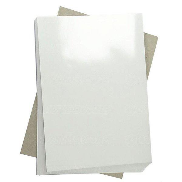 Papel Fotográfico Glossy (resistente à água apenas p/ tintas corantes) 115g/m² - A4 Masterprint - 200 folhas