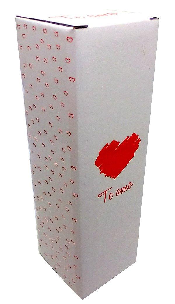 """Caixinha para Squeeze de Material Papelão Resistente Modelo """" Te Amo''  para Squeeze de 500 Ml (2012) -  01 Unidade"""