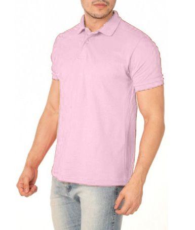 Camisa Modelo Polo 100% Poliéster Rosa Claro para Sublimação - 01 Unidade