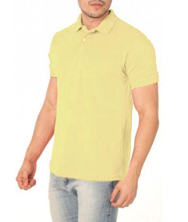 Camisa Modelo Polo 100% Poliéster Amarelo para Sublimação - 01 Unidade