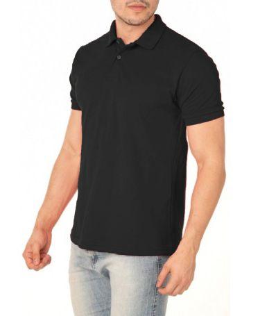 Camisa Modelo Polo 50% Algodão e 50% Poliéster Preto para Transfer Silk - 01 Unidade