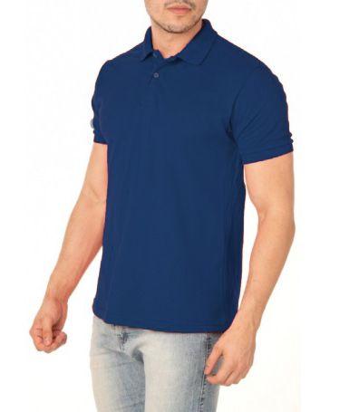Camisa Modelo Polo 50% Algodão e 50% Poliéster Azul para Transfer Silk - 01 Unidade