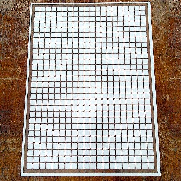 Filme de recorte SUBLIMÁVEL e Termo Colante Quadriculados Branco Tamanho A4 (210MMX297MM) com Máscara de Recorte Reflet Power - Pacote com 10 Folhas