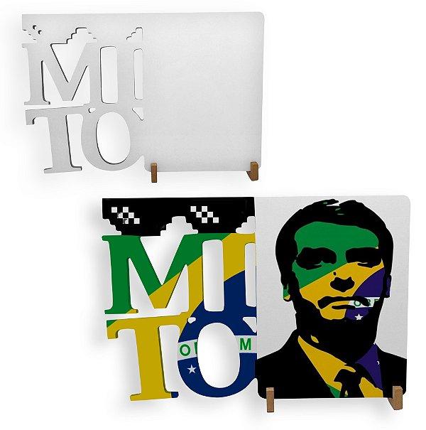 Porta Retrato Mito Mdf 6mm Branco Retangular Resinado para Sublimação Ultra Brilho (PH1408) - 01 Unidade