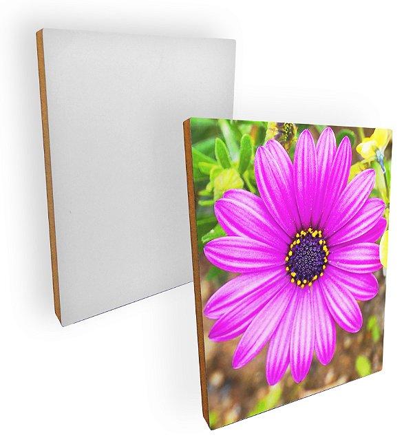 Quadro para Fotos Com Base Mdf 15mm Branco Retangular 15x20 Cm Resinado para Sublimação Ultra Brilho (PH1409) - 01 Unidade