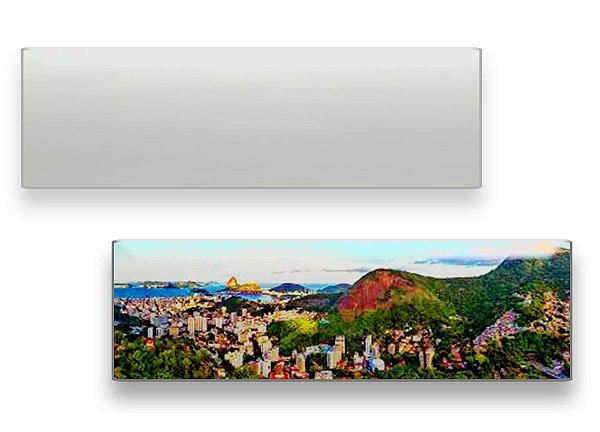 Quadro para Fotos (Porta Retrato) Panorâmico 15x40cm Com Base Mdf 15mm Branco Retangular Resinado para Sublimação Ultra Brilho (PH1410) - 01 Unidade