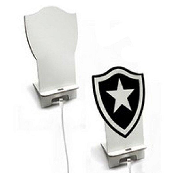 Suporte para Smartphone Time Botafogo com Furo para Carregador em Mdf 6mm Branco Resinado para Sublimação Ultra Brilho - 01 Unidade
