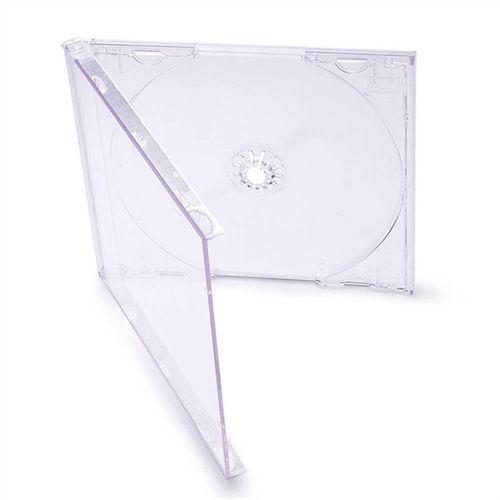 Box CD Tradicional Simples Tray Crystal (Novo Disc) - 01 Unidade
