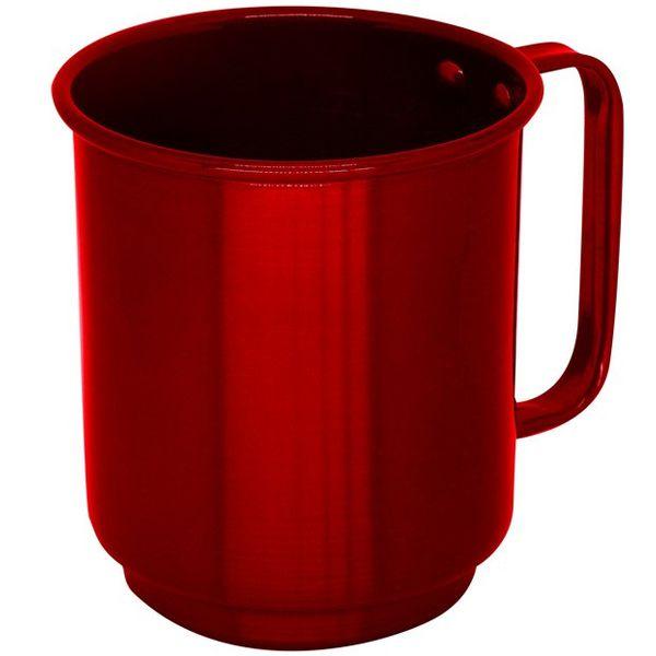 Caneca de Alumínio Linha Luxo Design Colorido para Sublimação Brilhante Cor Vermelha 400ml - 01 Unidade (AL4042)