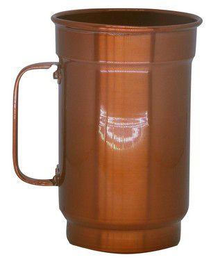 Caneca de Alumínio Linha Luxo Design Colorido para Sublimação Brilhante Cor Cobre 750ml - 01 Unidade (AL4078)