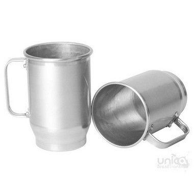 Caneca de Alumínio Com Tarja Fosca para Sublimação 600ml - 12 Unidades (Caixa Fechada) (AL4007)
