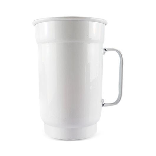 Caneca de Alumínio Branca para Transfer e Silk Brilhante 750ml - 01 Unidade (AL4005)