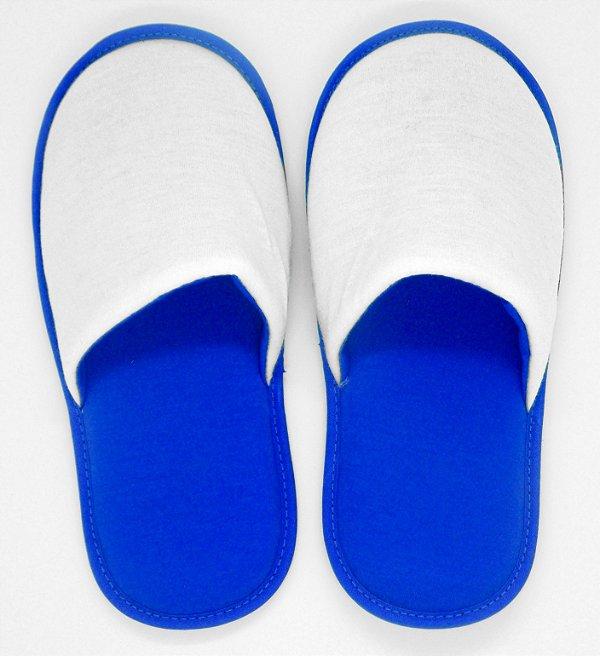 Pantufa Azul em Algodão com Faixa de Poliéster para Sublimação Infantil (SP230) - 01 Unidade (Dia das Crianças)