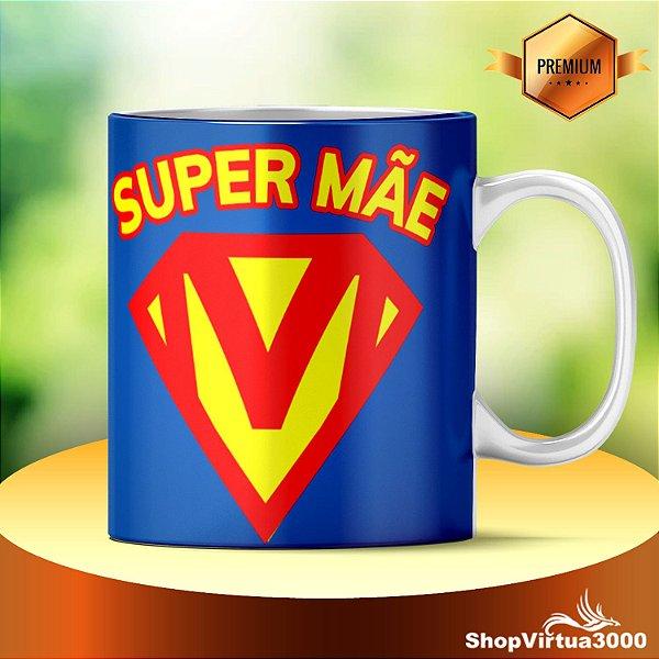 Caneca Cerâmica Classe +AAA Personalizada Super Mãe - 01 Unidade