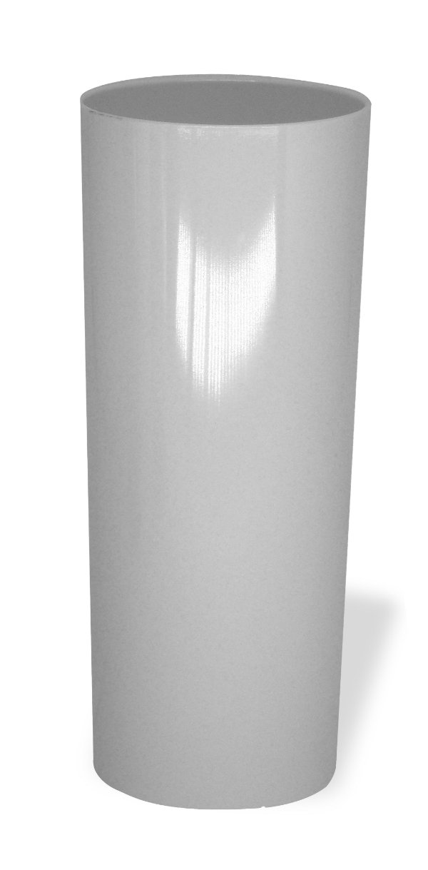 Copo Long Drink Acrílico Ps Branco 350 Ml Ultra Resistência Bezavel (1870) - 01 Unidade