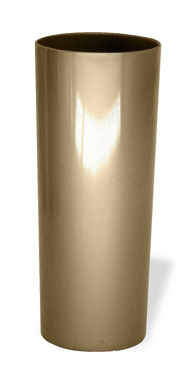 Copo Long Drink Acrílico Dourado 350 Ml Ultra Resistência Bezavel (1877) - 01 Unidade
