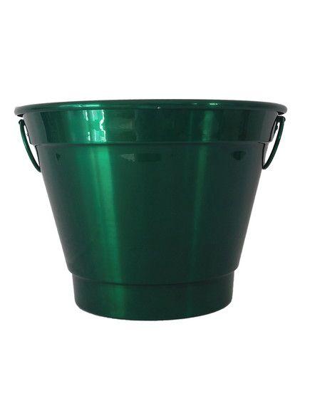 Balde para Gelo Em Alumínio Linha Luxo Design Cor Verde Brilhante para Transfer e Silk Capacidade para Até 6 Litros - 01 Unidade