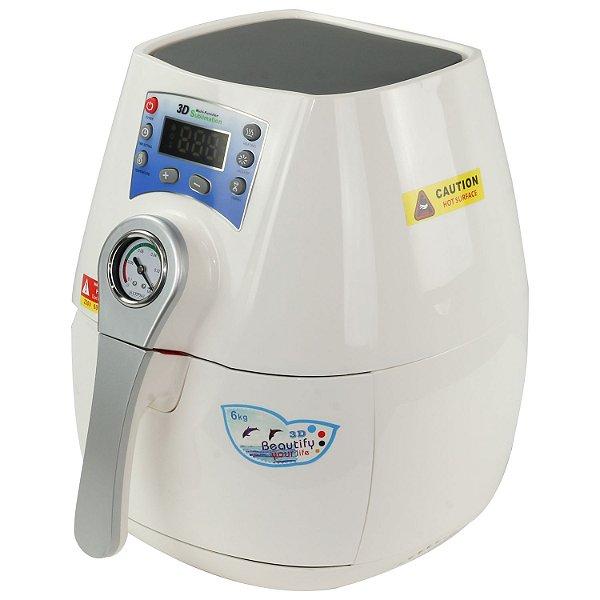 Prensa Térmica Vácuo - 3D - Mini - Branca - 110v Display Digital ShopVirtua3000® (2020) - 01 Unidade (LiveSub)