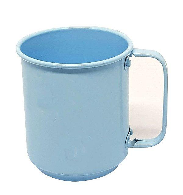 Caneca de Alumínio Linha Luxo Design Colorido para Sublimação Brilhante Cor Azul Bebê 400ml - 36 Unidades (Caixa Fechada) (AL4049)