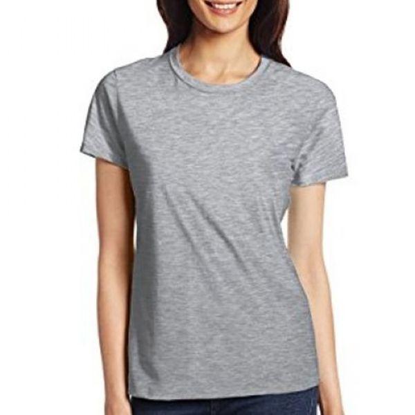 Camisa Tamanho G Modelo Baby Look 100% Algodão Cinza Claro para Sublimção - 01 Unidade