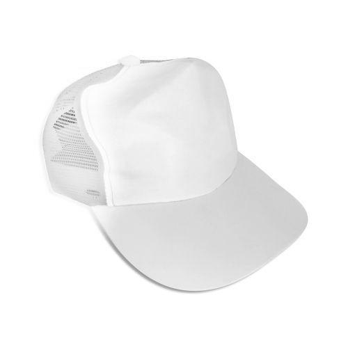 Boné Americano Cabeça Aba e Tela Branca para Sublimação em Microfibra Adulto - 01 Unidade