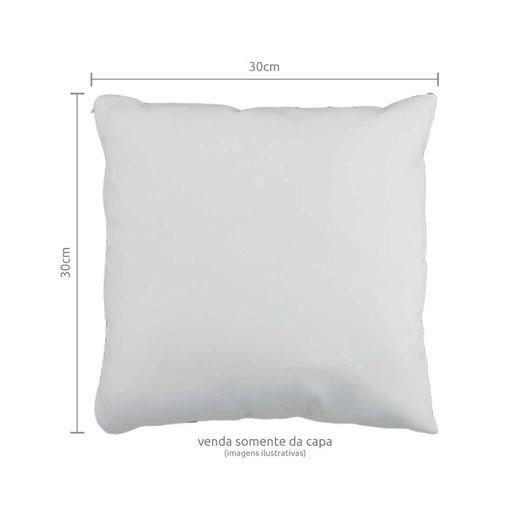 Capa de Almofada para Sublimação Tamanho 30x30 Material Oxford Branco Modelo Quadrado Com Zíper Invisível - 01 Unidade