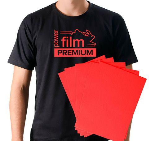 Filme De Recorte SUBLIMÁVEL A4 Termocolante Vermelho - Reflet Power Film Premium (1718-VM) - Pacote com 10 Folhas