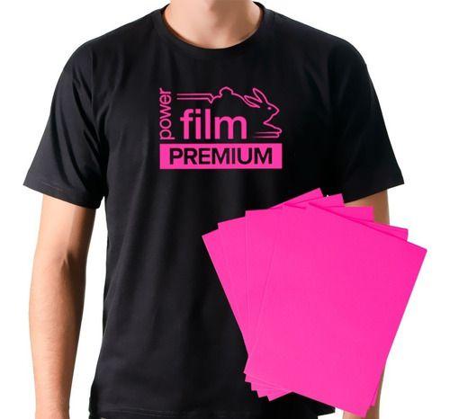 Filme De Recorte SUBLIMÁVEL A4 Termocolante Rosa Pink - Reflet Power Film Premium (1718-PK) - Pacote com 10 Folhas