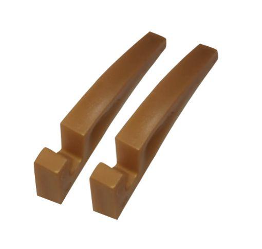 Suporte Dourado para Azulejo Sublimático Material Plástico (o Par)