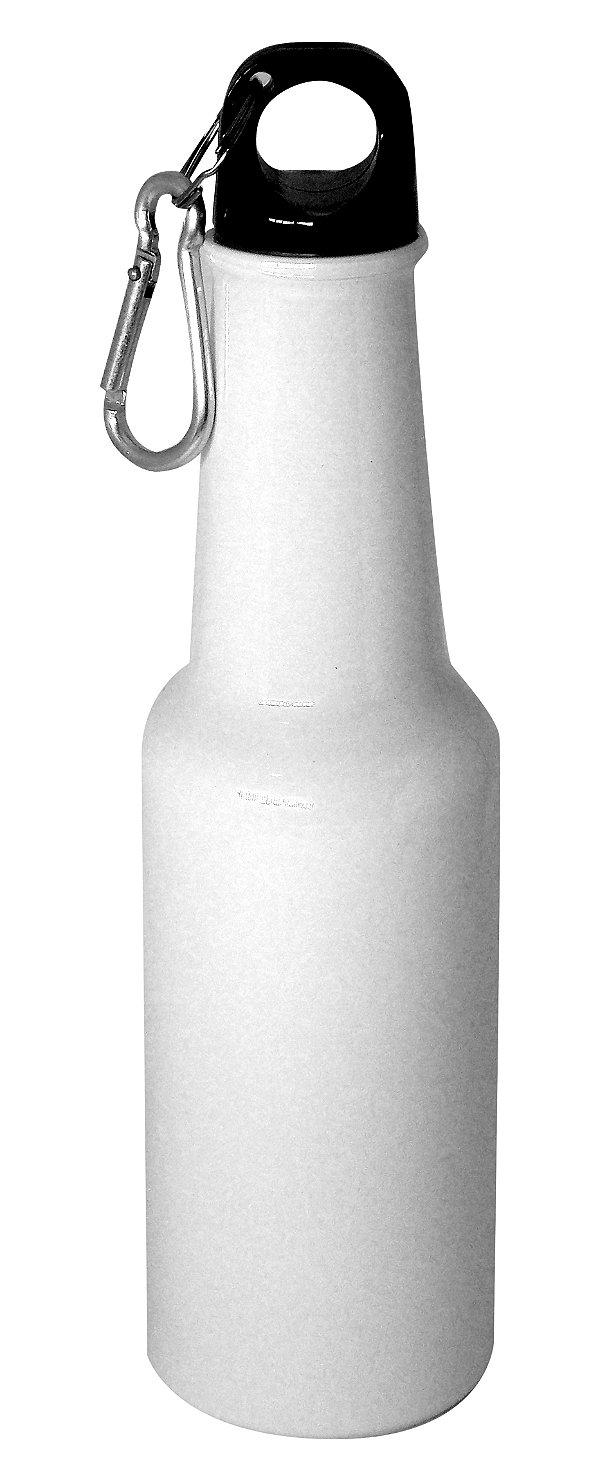 "Garrafa de Aluminio Estilo ""Long Neck"" - Branco - 500 ML (2596) - 01 Unidade (PROMO BOAS FESTAS)"