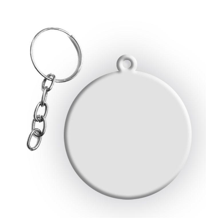 Chaveiro de Polímero para Sublimação Formato Redondo Com Argola 4cm - 10 Unidades